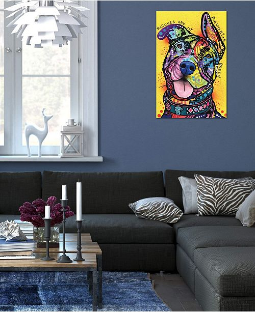 """iCanvas """"Rescues Are My Favorite Breed"""" by Dean Russo Gallery-Wrapped Canvas Print (40 x 26 x 0.75)"""