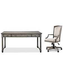 Sloane Home Office, 2-Pc. Set (Writing Desk & Upholstered Desk Chair), Created for Macy's