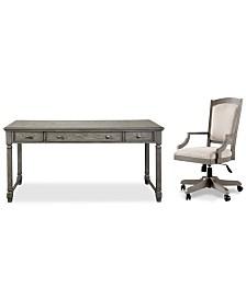 Sloane Home Office, 2-Pc. Set (Writing Desk & Upholstered Desk Chair), Created for Macy's