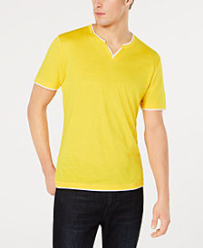 I.N.C. Men's Split-Neck T-Shirt, Created for Macy's