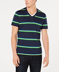I.N.C. Men's Striped V-Neck T-Shirt, Created for Macy's