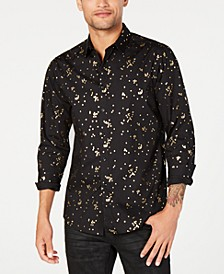 INC Men's Confetti Foil Shirt, Created for Macy's