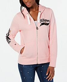 Tommy Hilfiger Varsity-Graphics Hooded Sweatshirt, Created for Macy's