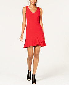 Trina Turk Ruffled Fit & Flare Spumante Dress