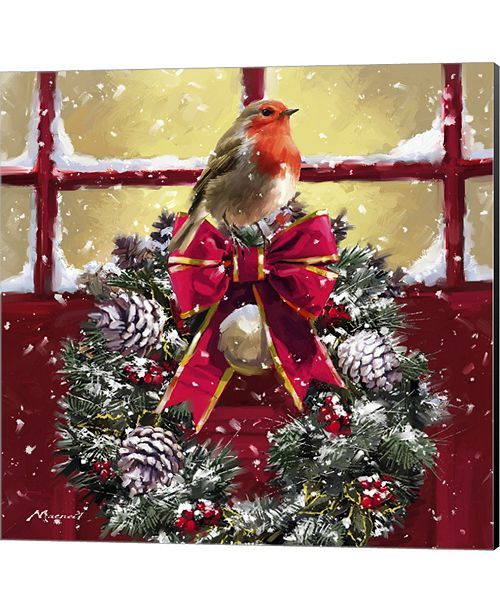 Metaverse Robin On Wreath by The Macneil Studio Canvas Art