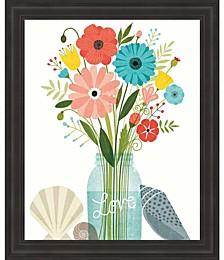 Seaside Bouquet II Mason Jar by Michael Mullan Framed Art