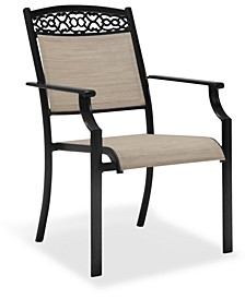 CLOSEOUT! Outdoor Cast Aluminum Sling Dining Chair, Created for Macy's