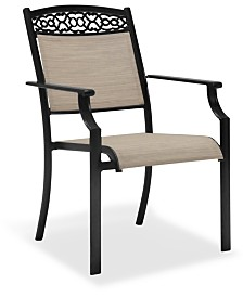 Outdoor Cast Aluminum Sling Dining Chair, Created For Macy's