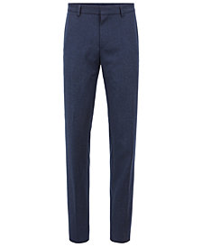 BOSS Men's Slim-Fit Virgin Wool Flannel Trousers