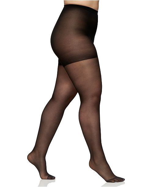 122c4c127 ... Berkshire Women s Sheer Queen Plus Size Silky Extra Wear Control Top  with Reinforced Toe Hosiery 4489 ...