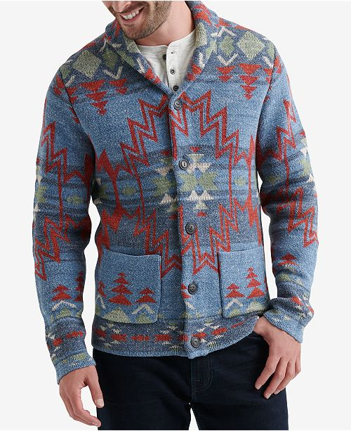 Mens Jacquard Sweater