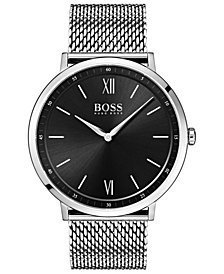 BOSS Hugo Boss Men's Essential Ultra Slim Stainless Steel Mesh Bracelet Watch 40mm