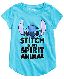 Disney Big Girls Graphic-Print Stitch T-Shirt