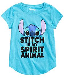 Disney Big Girls Graphic-Print Stitch T-Shirt