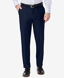 Haggar Men's Premium Comfort Slim-Fit Performance Stretch Flat-Front Dress Pants