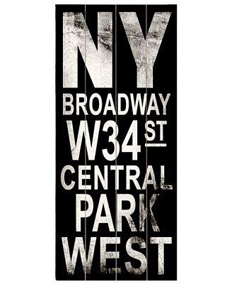 ArteHouse Wall Art, NY Broadway Destination Sign
