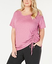 fd2bfffc68f Ideology Plus Size Side-Tie Top