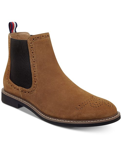 5052c049ee1 Tommy Hilfiger Men's Gainer Suede Chelsea Boots & Reviews - All ...