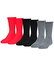 Big Boys 6-Pk. UA Charged Crew Socks