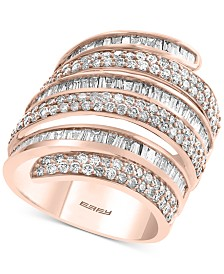 EFFY® Diamond Wrap Statement Ring (2-1/5 ct. t.w.) in 14k Rose Gold