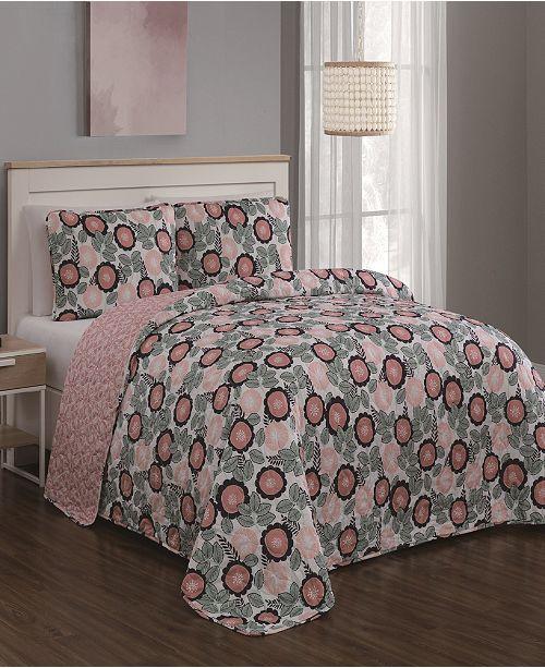 Geneva Home Fashion Marka 3pc Queen Quilt Set