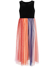 Sequin Hearts Big Girls Rainbow Maxi Dress