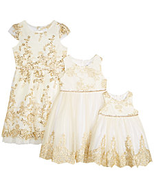 Rare Editions Baby, Toddler, Little & Big Girls Sister Embroidered Party Dresses