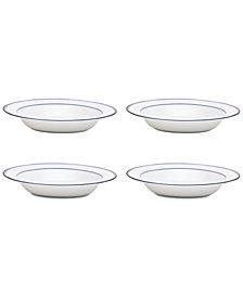 Dansk Allegro Blue Rim Soup Bowls, Set of 4