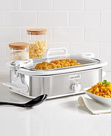 Programmable Digital Casserole Crock Slow Cooker, 3.5 Quart, Stainless Steel