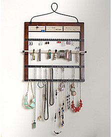 Jewelry Organizer with Bracelet Holder Rod