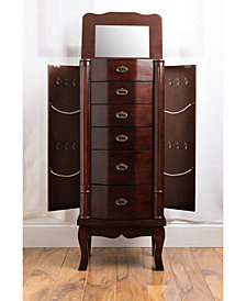 Abigail Walnut Jewelry Armoire
