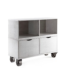 Washington Double Storage Cabinet with Casters