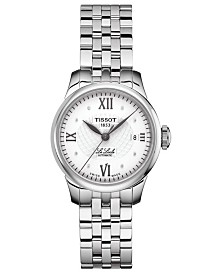 Tissot Women's Swiss T-Classic Le Locle Stainless Steel Bracelet Watch 25.3mm