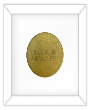Living 31 Believe In Miracles Gold Decorartive Wall Art