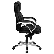 High Back Black Leather Contemporary Executive Swivel Chair