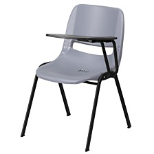 Ergonomic Shell Chair With Left Handed Flip-Up Tablet Arm