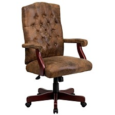 Bomber Brown Classic Executive Swivel Chair
