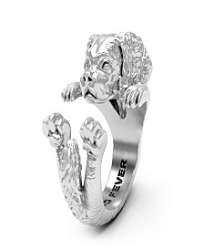 Cavalier King Charles Spaniel Hug Ring in Sterling Silver