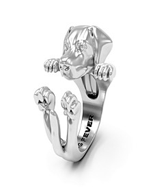 Labrador Retriever Hug Ring in Sterling Silver