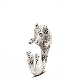Collie Hug Ring in Sterling Silver
