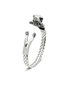 Pug Hug Bracelet in Sterling Silver