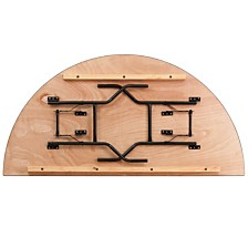 72'' Half-Round Wood Folding Banquet Table