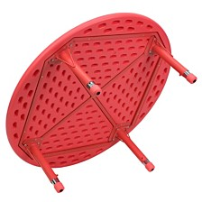 45'' Round Red Plastic Height Adjustable Activity Table
