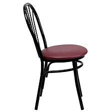 Hercules Series Fan Back Metal Chair - Burgundy Vinyl Seat