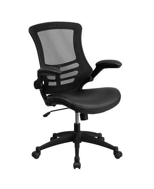 Flash Furniture Mid-Back Black Mesh Swivel Task Chair
