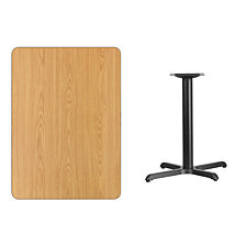 30'' X 42'' Rectangular Natural Laminate Table Top With 22'' X 30'' Table Height Base