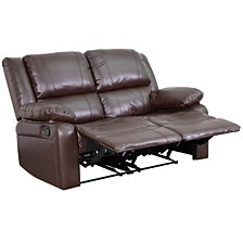 Harmony Series Leather Loveseat With Two Built-In Recliners