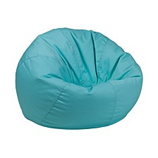 Small Solid Mint Green Kids Bean Bag Chair