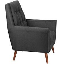 Hercules Kensington Series Contemporary Black Fabric Tufted Arm Chair