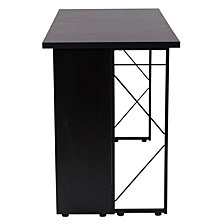 Summit Black Computer Desk With Shelf And Metal Frame